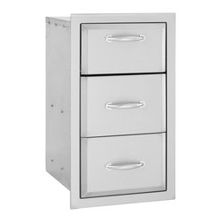 Summerset - Alturi Triple Drawer - #304 Stainless Steel Construction