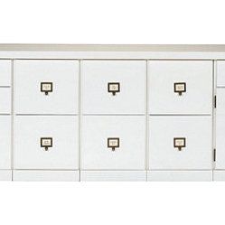 Ballard Designs - Original Home Office 5-Cabinet Credenza with Wood Top - Around here, we call ...