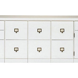"""Ballard Designs - Original Home Office 5-Cabinet Credenza with Wood Top - Generous 81""""W work surface. File Storage Cabinets have full-extension glides. Open Storage Cabinets have coordinating basket options (sold separately). Crafted with solid wood frames & fine veneers. Swatches available. We invented the modular Original Home Office to give you total design flexibility. Each piece works with every other, so you can create an office that works perfectly for you. To customize your Credenza, choose any five cabinets from seven versatile options. Select a wood top to match your cabinet finish or zinc top with your choice of cabinet finish. Adjust the working height by adding an optional Plinth Base. Add a Large Open Base or 4-Drawer Hutch (see Hutches) to create vertical storage above. Finished on three visible sides and designed to stand against the wall. See all your options below. 5-Cabinet Credenza features:  . .  . . . Download free Design Guide above. Download free drawer label templates above."""