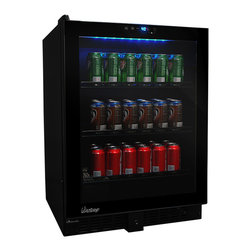 Vinotemp - Vinotemp - VT-54 Touch Screen Beverage Cooler - The stylish VT-54 Touch Screen Beverage Cooler by Vinotemp is perfect for those who love to entertain. With its seamless, all-glass technology, this unit allows you to house cans or wine bottles. It features distinctive black racking, which is a patent pending Vinotemp design exclusive.