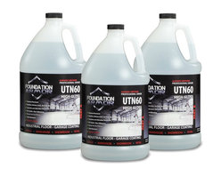 Foundation Armor - PRO Concrete and Garage Floor Coating With Oil, Gas, and Scratch Resistance, Cle - The Armor UTN60 is an industrial-grade high gloss aliphatic urethane coating for concrete and garage floors. It offers superior performance in applications where abrasion and chemical resistance are required.