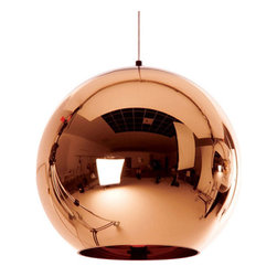 Tom Dixon - Tom Dixon Copper Shade Pendant - 45cm - The Copper collection brings a sculptural sophistication to any interior. Its rich and reflective qualities take on the characteristics of its surroundings.