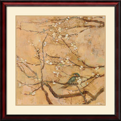Birds and Blossoms II Framed Print by Jill Barton