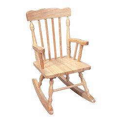 Gift Mark - Gift Mark Home Kids Children Resting Spindle Rocking Chair Natural - The Gift mark Hand Crafted Colonial Rocking Chair is Designed for Beauty and Durability. Each Spindle is Hand carved, with Great Detail. Each Spindle Rocking Chair is Crafted from Solid Wood. This Rocking Chair is built to Last, and will be part of your Family for Generations. Easy to Assemble. Includes All Tools For Assembly.