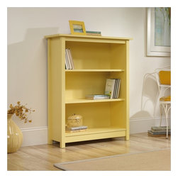 Sauder - Sauder Original Cottage 3 Shelf Bookcase in Melon Yellow - Sauder - Bookcases - 414181 -