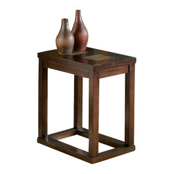 Steve Silver Company - Steve Silver Company Alberto Chairside End Table in Cherry Finish - Steve Silver Company - End Tables - AL100EC