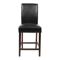 """Office Star - Office Star Metro Set of 2 Counter Stool in Espresso - Office Star - Bar Stools - MET2824ES - OSP Designs 24"""" Parsons Counter Stool in Espresso KD 2-Pack. Need a little something to complete your dining style/look? This simple yet stylish counter stool will be great to add to your dining room or kitchen. Ready to assemble when received."""