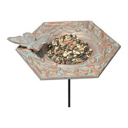 Whitehall Products LLC - Butterfly Garden Bird Feeder - Copper Verdi - Features: