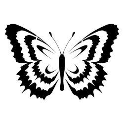 Stencil Ease - Gold Stencil - Gold-Rim Swallowtail Butterfly Stencil - BASIC Stencils Collection