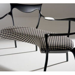 DRDP - Is it a bench or some sort of warped loveseat? I love when a piece of furniture cannot be easily categorized. The curvy lines and unusual form of this piece make it one to lust after.