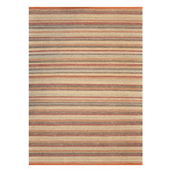 Loloi Rugs - Loloi Rugs Green Valley Terracotta-Stripe Transitional Hand Woven Rug X-0BA700ST - Hand woven in India of seagrass and cotton, the Green Valley Collection breathes organic beauty in the floors of any home with these solid and striped designs. And with a raw textural surface, Green Valley adds a distinctly natural vibe to the room.