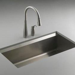 KOHLER - KOHLER K-3673-NA 8 Degree Large Single Kitchen Sink - KOHLER K-3673-NA 8 Degree Large Single Kitchen Sink