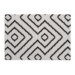 Black & White Optical Diamond Custom Placemat Set - Is your table looking sad and lonely? Give it a boost with at set of Simple Placemats. Customizable in hundreds of fabrics, you're sure to find the perfect set for daily dining or that fancy shindig. We love it in this super chic black & white diamond print on pure linen. a bold, graphic statement in your modern home.
