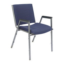 National Public Seating - National Public Seating 9400 Series Upholstered Stack Chair w/ Arms in Diamond N - Give your audience and guests a comfortable and attractive place to sit with National Public Seating's 9400 Series Heavy-Duty Upholstered Stack Chair with Arms. The chair has a contoured seat with 2 Inch-thick padding, plus sturdy arms with plastic arm rests so individuals stay focused on lectures, services and presentations. This attractive chair features an 18-gauge steel frame and front and rear leg strengtheners for extra support. Eight plastic bumpers allow you to stack up to 10 chairs without scratching the silvervein powder-coat paint finish. Choose from several high-quality fabric colors for the upholstery. The National Public Seating 9400 Series Heavy-Duty Upholstered Stack Chair with Arms is backed by a ten-year warranty.