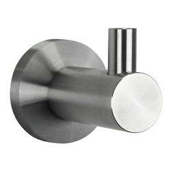 BOANN - BOANN Stainless Steel Single Bathrobe Hook - The BOANN Bathrobe Hook is constructed with solid T304 stainless steel and contains a sleek stainless steel finish to match. The Bathrobe Hook exhibits modern styling, yet is highly durable due to its robust design. Add the Boann Stainless Steel Bathrobe Hook as an addition to a Boann faucet to improve the look of your restroom.