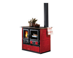 "La Nordica - Wood Cook Stove La Nordica ""Rosa Maiolica"", Wood Burning Cooker, Bordeau - Wood Cooking Stove La Nordica ""Rosa Maiolica"""