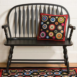 Windsor Bench | Sturbridge Yankee Workshop - This Windsor bench is a welcoming seat in the entryway of a traditional home, but its classic and timeless lines work well with modern decor as well.