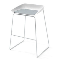 Turnstone - Steelcase - Scoop Bar Stool Silver Frame Pad Gray - Play it cool all you want; everyone always wants in on the scoop.