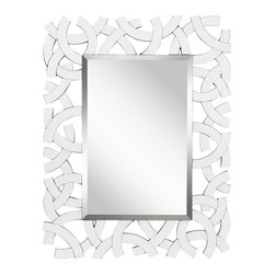 Kichler Lighting - Kichler Lighting Zeeba Transitional Rectangular Mirror X-70287 - This unique mirror showpiece features an elegant White Beveled Glass frame to create a design that will elevate any space in your home.
