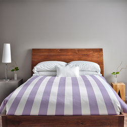 e by design - Lilac Twin Stripe Duvet Cover - - Decorate and personalize your home with duvet covers that embody color and style from e by design  - Closure: Concealed zipper  - Care Instructions: Spot clean recommended  - Made in USA e by design - DS-N1-Lilac-T