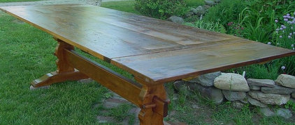 New England Joinery trestle tables Essex,MA.