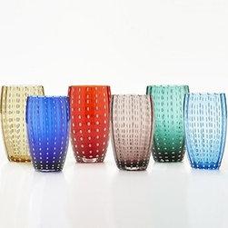 Zafferano - Zafferano | Perle Beverage Glasses, Gift Set of 6 - Design by Federico DeMajo.
