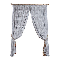 "Ulinkly.com - Grey Velvet King (1 Panel Drapery with Lining, each panel 54""W 96""L) - Ulinkly is for affordable custom-made luxurious window curtains. We partner exclusively with top premium factories(top 1-2 sellers in international market) selling high-end custom-made curtains with top quality and hundreds high-end styles (Drapery, Voile and Valance) selection in North America."