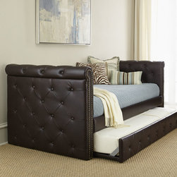 Raven Tufted Leather Daybed -