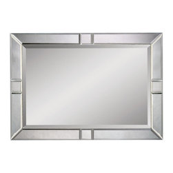 Bassett Mirror Company - Bassett Mirror Contempo Beveled Rectangle Wall Mirror in Silver - Beveled Rectangle Beveled Wall Mirror belongs to Contempo Collection by Bassett Mirror Company Bassett Mirror is fluent in this art, showing a terrific contemporary furniture that will satisfy on the one hand fans of home coziness, and on the other hand - seekers of non-standard design solutions also. One of the many strengths of the Bassett Mirror is using high quality materials for perfect embodiment of brilliant design ideas. Mirror (1)