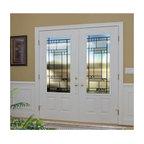 Smooth Skin Fiberglass Door Series - 3/0 x 6/8 Smooth Skin Series: 3/4 Panel: 3/4 Lite w/ Kensington Doorlites---