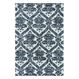 """Loloi Rugs - Loloi Rugs Avanti Collection - Indigo, 5'-0"""" x 7'-6"""" - Power loomed in China, Avanti presents a collection of vintage-inspired rugs with an incredibly soft microfiber surface. The intentionally distressed patterns create a weathered look that simultaneously implies heritage and modernity. Made of 100% polyester, each rug will retain its sharp and vibrant colors for years to come."""