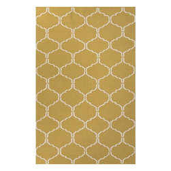 Jaipur Rugs - Jaipur Rugs Flat-Weave Moroccan Pattern Wool Green/Ivory Area Rug, 2 x 3ft - An array of simple flat weave designs in 100% wool - from simple modern geometrics to stripes and Ikats. Colors look modern and fresh and very contemporary.