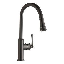 Elkay - Single Lever Pull Down Kit Faucet AS - Product height: 2.76. Product min width: 11.02. Product depth: 27.56 sgl lvr pd kit fct as. Like the American spirit, the Explore sink and faucet family was founded on classic ideals transformed by individual interpretation. From country to cottage to cozy urban decors, explore offers a fresh alternative to traditional americana. Explore pull-down kitchen faucet 14 gauge.