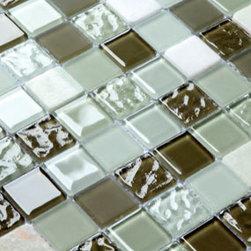 2013 New glass stone metal blend mosaic tile for kitchen backsplash STG0074 - Collection: Stone Glass Mosaic