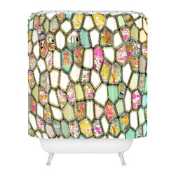 DENY Designs - Ingrid Padilla Cells Shower Curtain - Who says bathrooms can't be fun? To get the most bang for your buck, start with an artistic, inventive shower curtain. We've got endless options that will really make your bathroom pop. Heck, your guests may start spending a little extra time in there because of it!