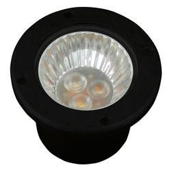 Progress Lighting - Progress Lighting P5295-31 Landscape 1 Light LED Tape in Black - 3W LED accent light with die cast aluminum and a glass cover.