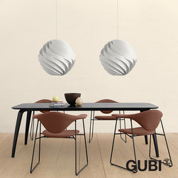 Gubi Turbo Pendant Lamp - Turbo Pendant was created in 1965. It was first put into production in 1967 and has achieved great success over the years. It illustrates design at its best: it is simple in form, yet complex in structure and combines a sense of airiness and strength in a beautiful sculptural whole.