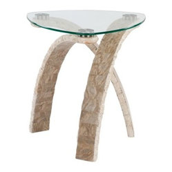 Magnussen Cascade Oval End Table