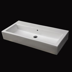 Lacava Aquagrande Washbasin - Great style in this quite wide sink which could have two faucets wall mounted for a his and hers installation.