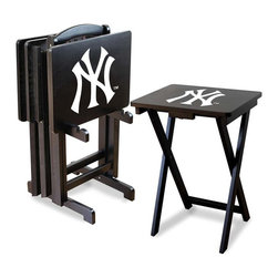 Imperial International - New York Yankees MLB TV Trays with Stand - Check out these GREAT Tray Tables. They're a great way to show your team spirit on game day or movie night! They're a perfect accessory for your Man Cave, Game Room, Garage or Basement.
