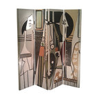 Picasso Theme Folding Screen - There's no need to go to the museum for a Picasso fix. Just put this creative floor screen in a corner of your living room and voilà!