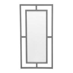Mitchell Gold + Bob Williams - Ming Polished Stainless Steel Mirror - Hang this decorative mirror in your entry way or above a fireplace for a sophisticated Asian flair. The polished stainless steel easily complements a modern home and can be hung vertically or horizontally. Either way, you'll be looking at a chic reflection.