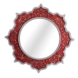 Marrakesh Dreams Decorative Wood Mirror - This Moroccan-inspired mirror would be perfect in a Matisse interior.