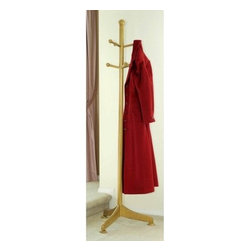 Winsome Brisbane Wooden Standing Coat Rack - What We Like About the Brisbane Coat RackA great addition to your home or office entryway the simple yet classic Brisbane Coat Rack combines elegance with functionality. Crafted from durable beechwood with a natural wood finish this coat rack will complement any decor. An attractive base provides stability while the wooden pegs provide a place for hanging coats jackets scarves and sweaters. About Winsome Trading Winsome Trading has been a manufacturer and distributor of quality products for the home for over 30 years. Specializing in furniture crafted of solid wood Winsome also crafts unique furniture using wrought iron aluminum steel marble and glass. Winsome's home office is located in Woodinville Washington. The company has its own product design and development team offering continuous innovation.