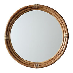 Serena & Lily - Montara Mirror  Natural - I'm such a fan of this mirror. The round shape and the rattan are so perfect for a beach house.