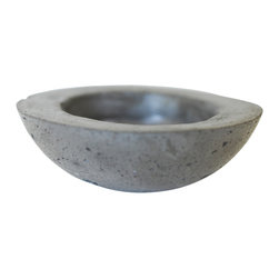 Anson Design CO - Round Concrete Planter - Concrete Bowl - Zen Decor - This stunning concrete planter is a great way to mix up your home and garden decor. Easily compatible with modern, industrial, vintage, country, etc. decor. There is a drainage hole for watering and the pot has been secured with a concrete sealer.