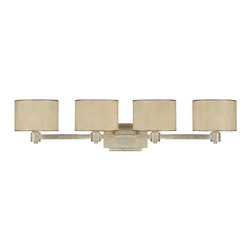 Capital Lighting - Capital Lighting Traditional Vanity / Bathroom Light X-014-GW9001 - Rich and worthy of praise, this contemporary wall pendant is a moonlit sonata of form and function. The moonlit Mica shades are romantic and they provide a bright glow for your bathroom, bedroom, office, kitchen, dining room, or living room. The winter gold finish is bright and sophisticated so you'll enjoy its durable nonchalance.