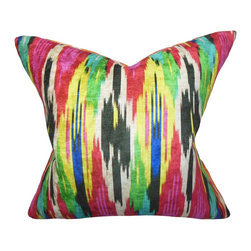"The Pillow Collection - Ulyanka Geometric Pillow Jewel - Add a pop of color to your dull and lackluster space with this bright toss pillow. Place it on your sofa. chair or seat to create a rich and colorful texture to your interior. Designed with a jewel-toned geometric pattern, this 18"" pillow is a definite must-have for your home. Constructed with the finest quality of 100% polyester fabric. Hidden zipper closure for easy cover removal.  Knife edge finish on all four sides.  Reversible pillow with the same fabric on the back side.  Spot cleaning suggested."