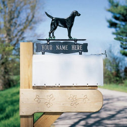 Whitehall - Whitehall Double Sided 1-line Mailbox Sign with Black Retriever Ornament - 02601 - Shop for Mailboxes and Accessories from Hayneedle.com! About WhitehallWhitehall is the world's largest manufacturer of weathervanes but the business points a lot more ways than east west north and south. Inspired by traditional handcrafted designs and quality Whitehall also makes gorgeous mailboxes address plaques and outdoor accents. They're based in western Michigan building American tradition and quality into every product they make.