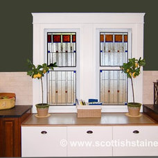 Contemporary Kitchen by Scottish Stained Glass